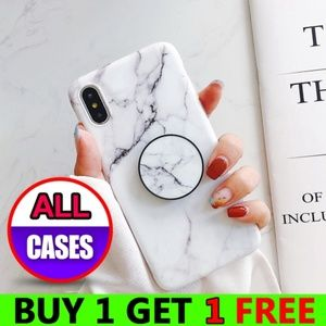 Accessories - iPhone Max/XR/XS/X/7/8/Plus Marble Case W/Holder